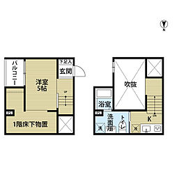 Fort Premiere R Minato(フォートプルミ[2階]の間取り