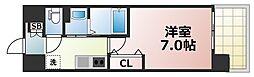 Osaka Metro千日前線 今里駅 徒歩5分の賃貸マンション 3階1Kの間取り