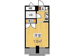 Uトピア高幡不動[5階]の間取り
