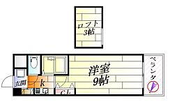 パークヴィラ山田[4階]の間取り