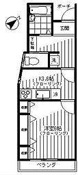 セレーサ大塚[102号室]の間取り