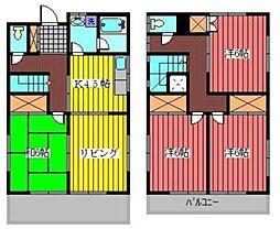[一戸建] 埼玉県川口市中青木5丁目 の賃貸【/】の間取り