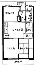 シャトレー澤宏[2階]の間取り