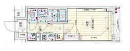Osaka Metro谷町線 四天王寺前夕陽ヶ丘駅 徒歩5分の賃貸マンション 9階1Kの間取り