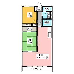 美笠ロイヤルパーク[4階]の間取り