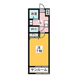 フローラルコートI[2階]の間取り