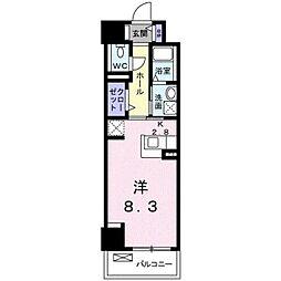 JR予讃線 松山駅 徒歩7分の賃貸マンション 4階1Kの間取り