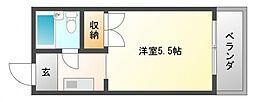 弘竹ホワイトハウス[3階]の間取り