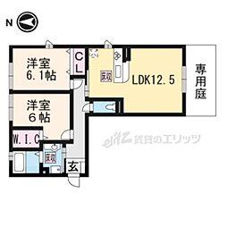 リート623E(イースト) 1階2LDKの間取り