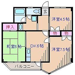中銀大倉山マンシオン[3階]の間取り