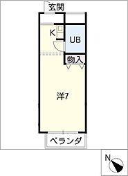 COSMO ANNEX SASSA[2階]の間取り