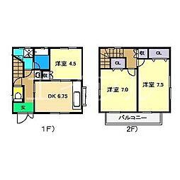 安部邸貸家[1階]の間取り