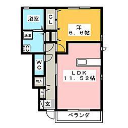 リコ プロスペラーレ B[1階]の間取り