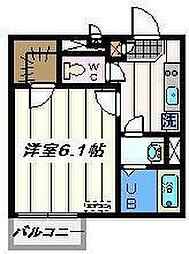 東京都葛飾区奥戸1丁目の賃貸マンションの間取り