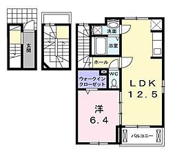 ラルーチェIII[3階]の間取り