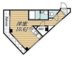JR総武線 稲毛駅 徒歩25分の賃貸アパート 3階ワンルームの間取り