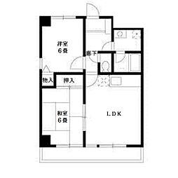 コンフォートソシアK[4階]の間取り