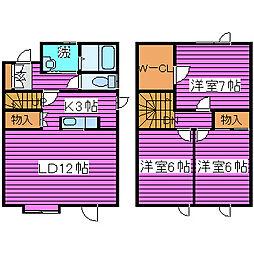 [タウンハウス] 北海道札幌市北区屯田七条11丁目 の賃貸【/】の間取り