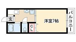 愛知県名古屋市名東区貴船2丁目の賃貸アパートの間取り
