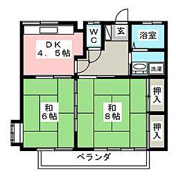 佐藤アパートB[2階]の間取り
