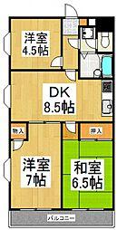 第三市川マンション[2階]の間取り