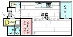 大阪府吹田市内本町2丁目の賃貸マンションの間取り