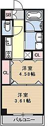 仮称 市部マンション[201号室号室]の間取り
