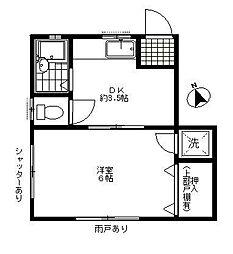 宇田川ハイツ[102号室]の間取り