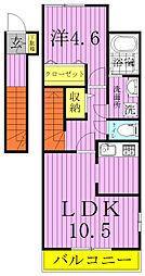 クレール松葉II[205号室]の間取り