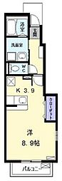 ボンヌシャンスd (ボンヌシャンスディー)[1階]の間取り