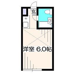 東京都西東京市緑町1丁目の賃貸アパートの間取り