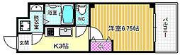 JR大阪環状線 野田駅 徒歩7分の賃貸マンション 2階1Kの間取り