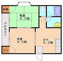 スカイハイツ31[1階]の間取り