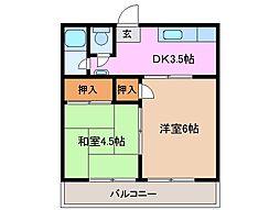 さつき荘[2階]の間取り