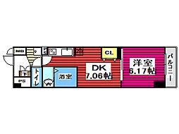 仙台市地下鉄東西線 薬師堂駅 徒歩5分の賃貸マンション 4階1DKの間取り