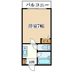 カーサ大和田[4A号室]の間取り