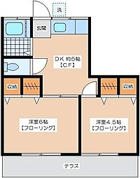 加藤荘[1階]の間取り