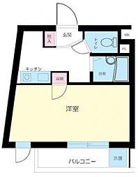 メトリブ新宿[203号室号室]の間取り