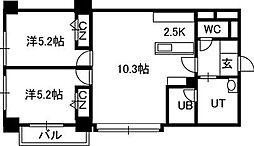 PRIME URBAN北3条通[1201号室]の間取り