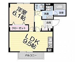 大阪府和泉市伯太町5丁目の賃貸マンションの間取り