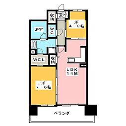 アシベル鶴舞[4階]の間取り