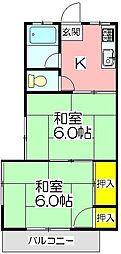 第二福田ハイツ[101号室]の間取り