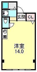UNIBOXビル[4O2号室号室]の間取り