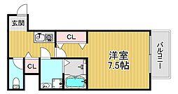 TOYOTOMISTAYPREMIUM梅田西II 8階1Kの間取り
