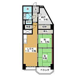 ネオプラザ北仙台[10階]の間取り