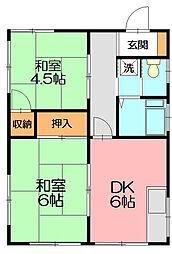 誠荘[2階]の間取り