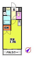 カーティアスSEKIYA[3階]の間取り