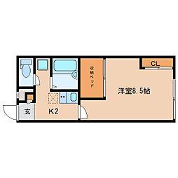 奈良県奈良市大安寺6丁目の賃貸アパートの間取り