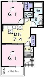 サンリットヴィラC[1階]の間取り