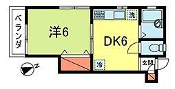 東京都杉並区高円寺南4丁目の賃貸アパートの間取り